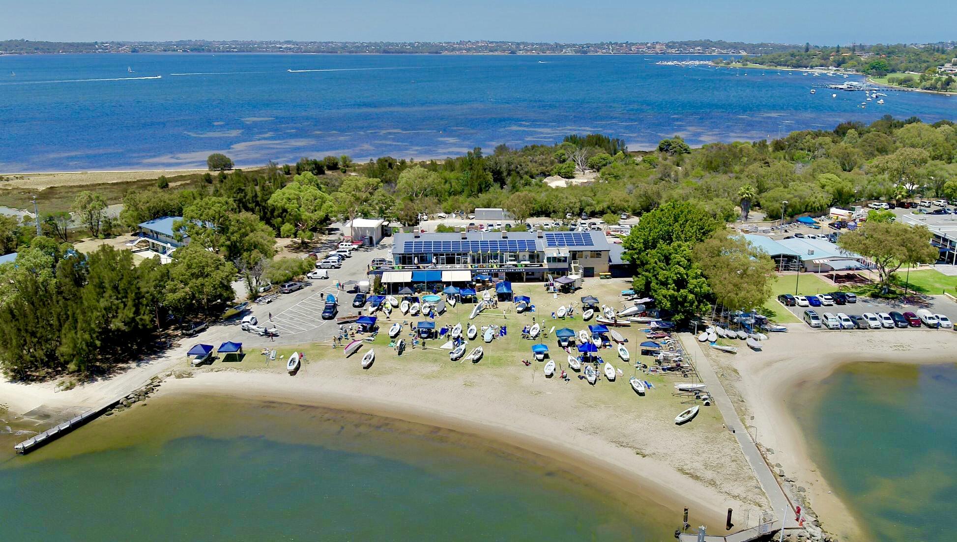 Aerial view of Mounts Bay Sailing Club