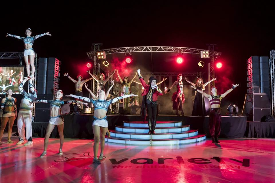 A combination of burlesque and cheerleading performance in Mounts Bay