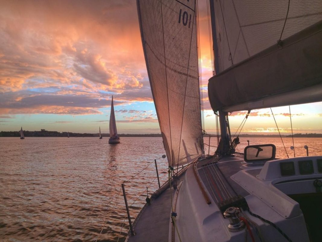 keelboat-Sunset